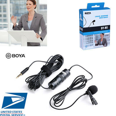 US BOYA BY-M1 3.5mm Lavalier Omnidirectional Lavalier Microphone for Canon Nikon
