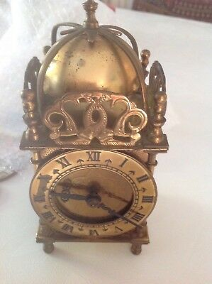 Vintage Smiths England 240v Nell Gwynn Brass Dome Carriage clock. Spares/Repair