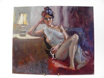 British Impressionist oil painting by Roy Pettitt portrait of a young lady #35