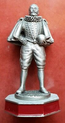 The Armada Chess Set Sir Francis Drake Schachfigur Zinn