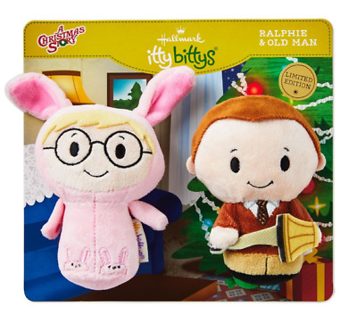 Hallmark Itty Bittys A Christmas Story RALPHIE & OLD MAN Limited Edition Bitty