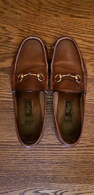 db2632a82 GUCCI 1953 EDITION Horsebit Loafers size 8 brown leather mens ...
