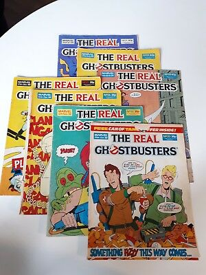 Real ghostbusters comics small bundle job lot of 7 comics