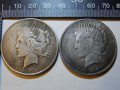Dark Knight Prop ☆ Harvey Dent Two Face 1922 Peace Dollar Two-Headed Coin BATMAN