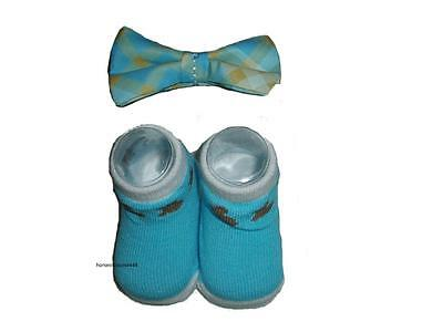 Rising Star Boy's Infant Easter Socks & Bow Tie Set Size 0-12 Months