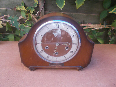 British Smiths 1950s 8 Day Westminster Chimiing Mantle Clock Spares Repair