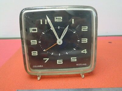 Vintage Columbia alarm clock, wind up.Made In Scotland lot col8768