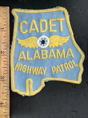 Old CADET ALABAMA Highway Patrol AL State TROOPER patch ALA CHEESECLOTH back