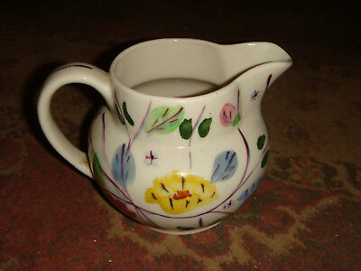 Vintage Blue Ridge Pottery Floral Design PITCHER - FREE SHIPPING