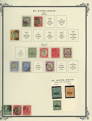 ST KITTS & NEVIS Album Page Lot #SPEC1 - SEE SCAN - $$$