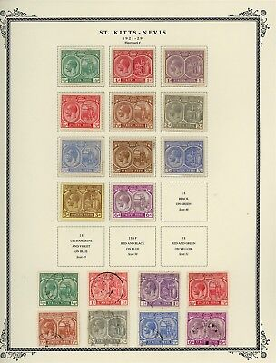 ST KITTS & NEVIS Album Page Lot #SPEC3 - SEE SCAN - $$$