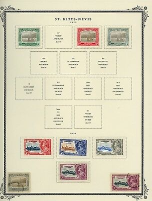 ST KITTS & NEVIS Album Page Lot #SPEC4 - SEE SCAN - $$$