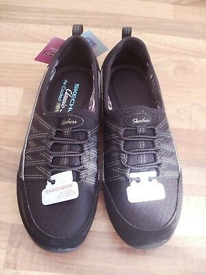 2 1/2 Uk Ladies Skechers Memory Foam Lightweight Cassic Fit Trainers Shoes New