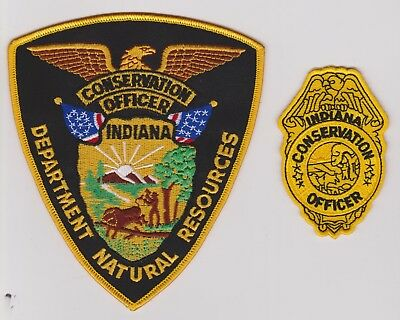 Indiana Natural Resources DNR Conservation Officer Game Warden 2 Police Patches