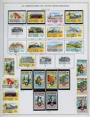 ST KITTS & NEVIS Album Page Lot #SPEC27 - SEE SCAN - $$$