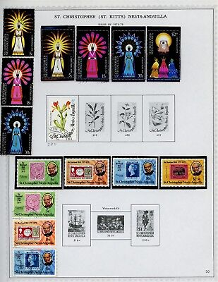 ST KITTS & NEVIS Album Page Lot #SPEC28 - SEE SCAN - $$$