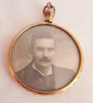 Beautiful Victorian Double Sided Picture Locket Necklace +Photos Gold Plated