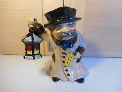 Roy Kirkham Pottery Staffordshire The Night Watchman Hand Painted Toby Jug