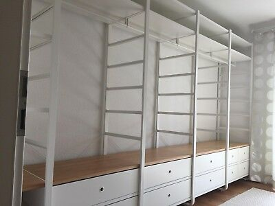 offener kleiderschrank ikea elvarli ca 3 5m mit 10. Black Bedroom Furniture Sets. Home Design Ideas