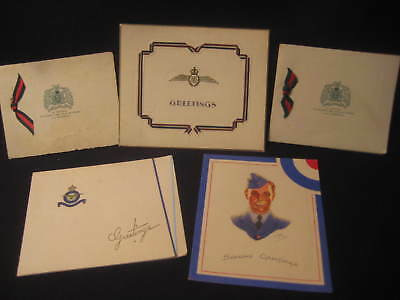 LOT OF vintage CHRISTMAS GREETING CARDS CANADIAN MILITARY  WW II RCAF RAF