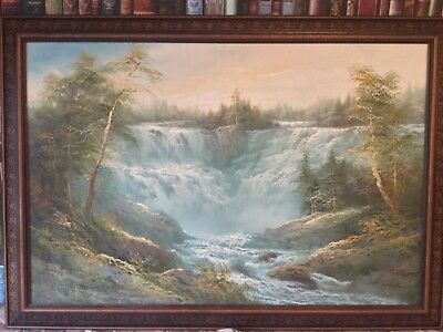 Large Oil Painting on Canvas Board signed R Danford