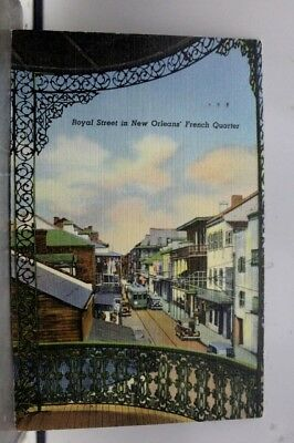 Louisiana LA New Orleans French Quarter Royal Street Postcard Old Vintage Card