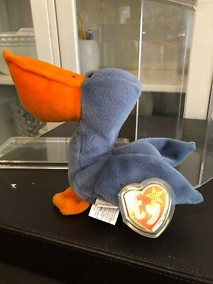 1996 Ty Beanie Baby SCOOP the Pelican RETIRED RARE P.E. Pellets Excellent Cond