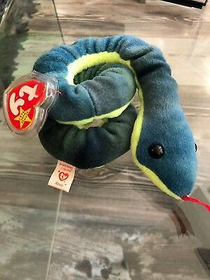 1997 VERY RARE NEW TY Hissy Beanie Baby With Errors on Tush Tag P.E Pellets