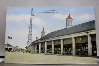 Louisiana LA New Orleans French Market Postcard Old Vintage Card View Standard