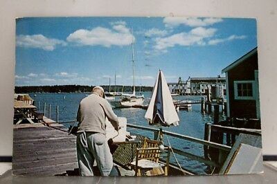 Maine ME Boothbay Harbor Region Postcard Old Vintage Card View Standard Souvenir