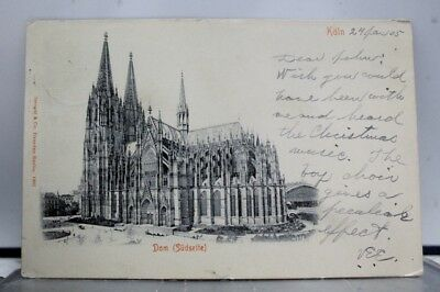 Germany Cologne Cathedral South Side Dom Sudseite Postcard Old Vintage Card View