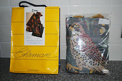 Vintage EHRMAN Tapestry Kit Candace Bahouth MEDIEVAL FALCON From Hunting Rug