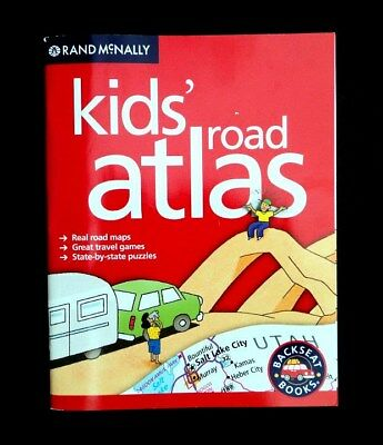 Rand McNally Kid's Road Atlas - Backseat Books - Travel Activity Map Game Book