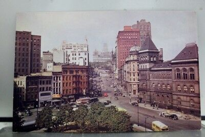 New York NY Albany State Street Postcard Old Vintage Card View Standard Souvenir