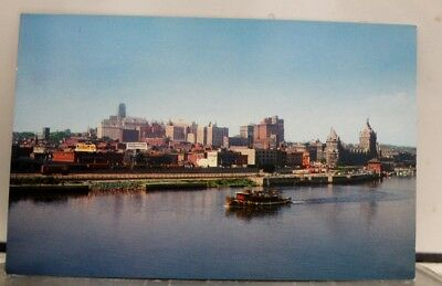 New York NY Albany Empire State Capital Hudson River Postcard Old Vintage Card