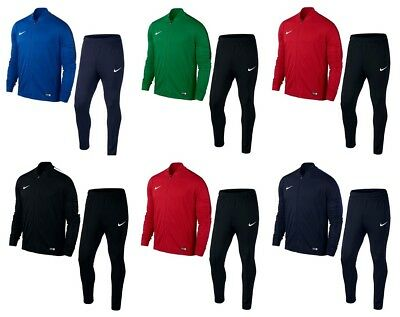 Nike Mens Academy Tracksuit Knit Bottoms Full Zip Sports Football Jogging Suits