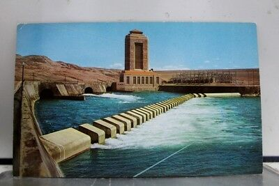 Montana MT Fort Peck Dam Power House Missouri River Postcard Old Vintage Card PC