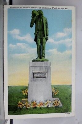 Louisiana LA Natchitoches Faithful Slaves Monument Postcard Old Vintage Card PC