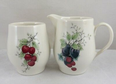 Vintage Carefree True China by Syracuse WAYSIDE Creamer & Open Sugar Made in USA