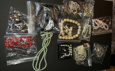Lot 1 of 12 pieces Vintage Assorted Beads Necklace Costume Jewelry