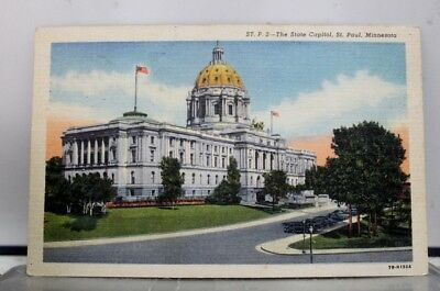Minnesota MN State Capitol St Paul Postcard Old Vintage Card View Standard Post