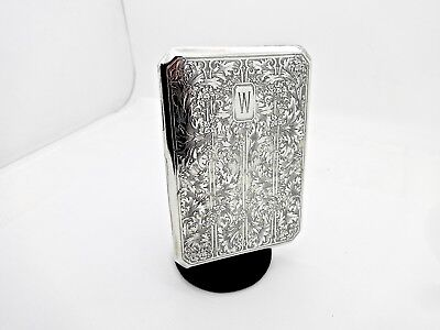 Antique Blackinton Engraved Grapevine Motif Sterling Silver Cigarette Id Case