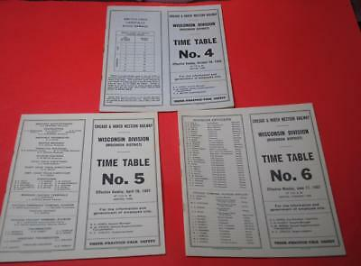 3 Chicago & North Western Wisconsin Div. ETTs 1956-57 #4, #5, #6 EXC-Great Info
