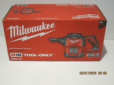 Milwaukee 0882-20 M18 Compact Vacuum(Tool Only)W/HEPA Filter FREE SHIP NISB!!!!