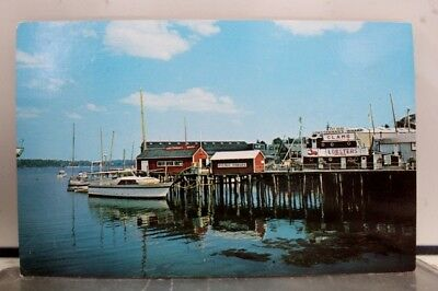 Maine ME Lobstermans Wharf Boothbay Postcard Old Vintage Card View Standard Post