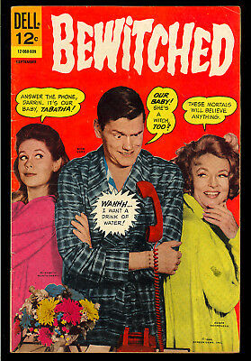 Bewitched #6 thru 9 Photo Cover Dell TV GROUP (4 Comics) 1966 GD+ to VG+