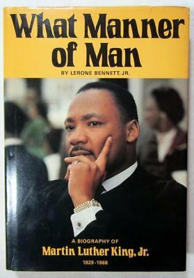 1976 MARTIN LUTHER KING, JR. Biography – SIGNED by LERONE BENNETT, JR. – HC, DJ