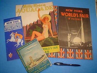 1939-40 New York Worlds Fair Booklets And Map