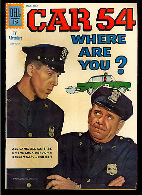 Four Color #1257 (Car 54 Where Are You? #1) Very Nice Dell TV Comic 1962 FN-VF