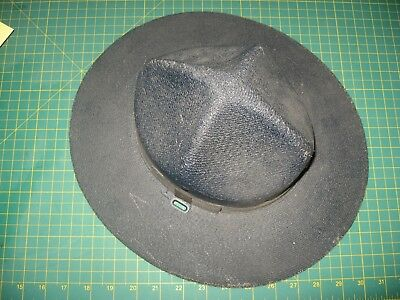 Vintage Pennsylvania State Police Black Hard Hat Pa  Old Early Nr